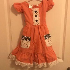 Other - Zoe Addelyn Black Hearts Dress 4 4T